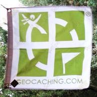 Bandeira geocaching rastreável - Modelo pequeno