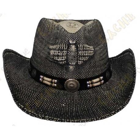 "Chapeau ""Texas"" - Noir/Marron"