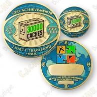 Geo Achievement® 30 000 Finds - Coin + Pin