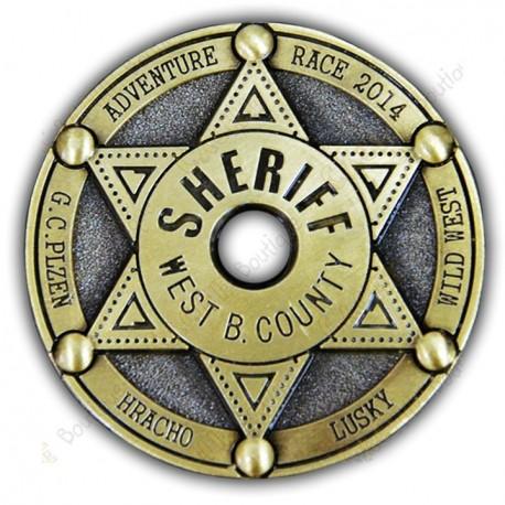 """Geocoin """"Sherif West B. County"""""""