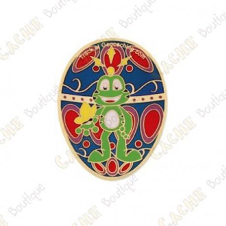 "Géocoin ""Signal the Frog®"" - Gold Egg"