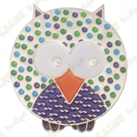 "Géocoin ""Dotted Owl"" - Smart - Silver LE"