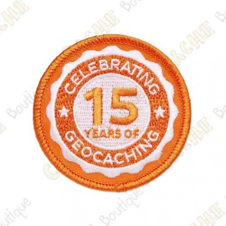 "Patch ""15 years of Geocaching"""
