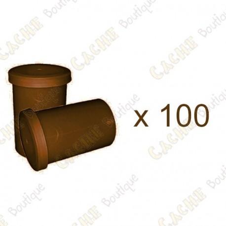 Mega-Pack - Film canister marrón x 100