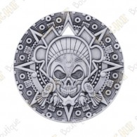 "Géocoin ""Aztec Pirate"" - Antique Silver"
