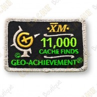 Geo Achievement® 11 000 Finds - Parche