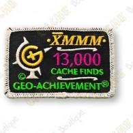 Geo Achievement® 13 000 Finds - Parche