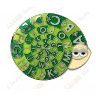 """Geocoin  """"Snail ROT 13"""" - Verde"""