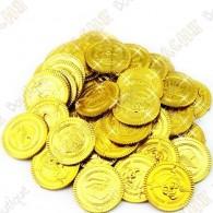 Monedas de los piratas x 4 - Oro