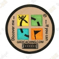 Parche Geocaching trackable - Redondo