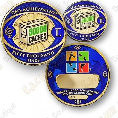 Geo Achievement® 50 000 Finds - Coin + Pin
