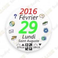 """Badge """"29 février 2016"""""""