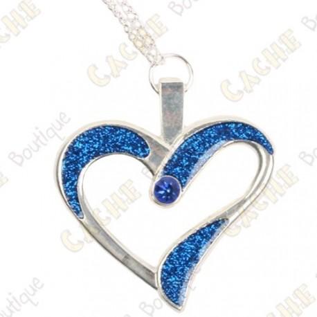 "Geocoin Collar ""Eternal Love"" - Azul / Plata"