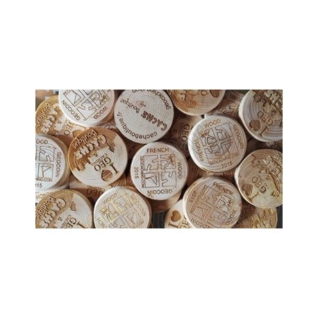 Wood coins personalizados x 500