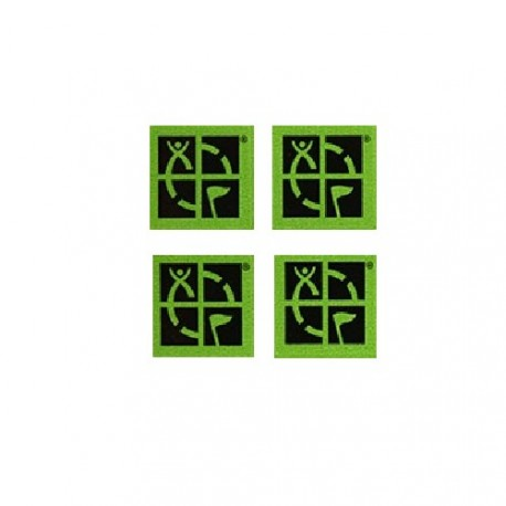 Mini stickers Groundspeak verts - Lot de 4