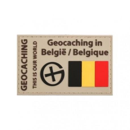 """Patch """"Geocaching en Belgique"""" PVC"""
