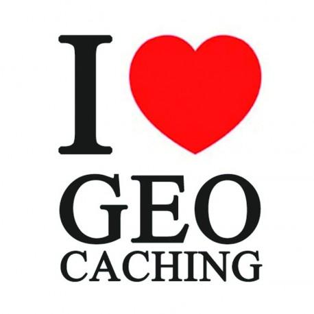 "Sticker ""I love Geocaching"""