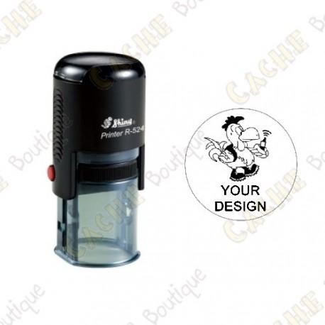 Estampilla ronda 100% personalizada - 24mm