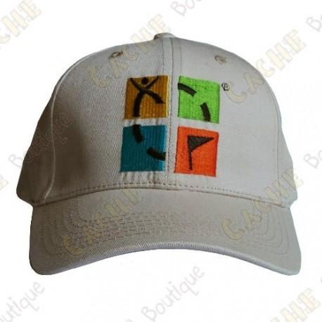 Boné logotipo Geocaching color - Bege