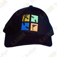 Casquette logo Geocaching quadri - Noir