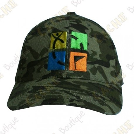 Gorra logo Geocaching color - Camuflaje