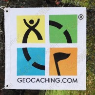 Bandeira Geocaching color Traclable - Modelo pequeno