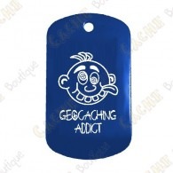 "Traveler ""Geocaching Addict"" Menino - Azul"
