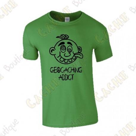 "T-Shirt ""Geocaching Addict"" Homme - Noir"