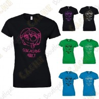 "Camiseta ""Geocaching Addict"" purpurina Mujer"