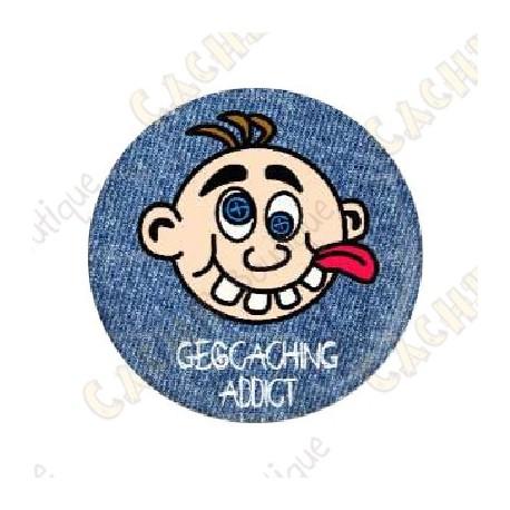 "Badge ""Geocaching Addict"" Garçon"