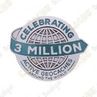 """Geocoin """"3 Millones Géocaches"""" - Silver"""