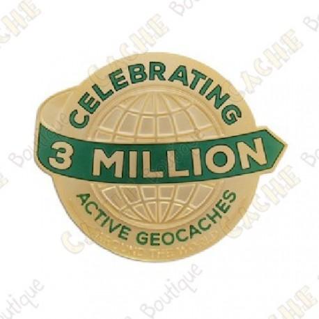"""Géocoin """"3 Millions de Geocaches"""" - Gold"""