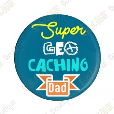 "Crachá  ""Super Geocaching Dad"""