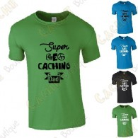 "Camiseta ""Super Geocaching Dad"" Hombre"
