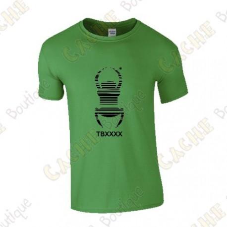 "Camiseta trackable ""Travel Bug"" Hombre"