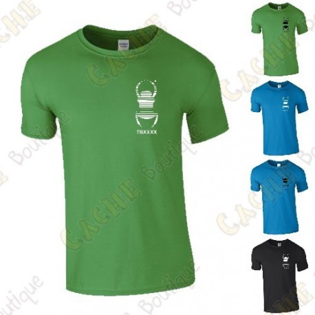 Camiseta trackable con Teamname, Hombre - Negra