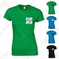 """T-Shirt trackable """"Discover me"""" Femme - Noir"""