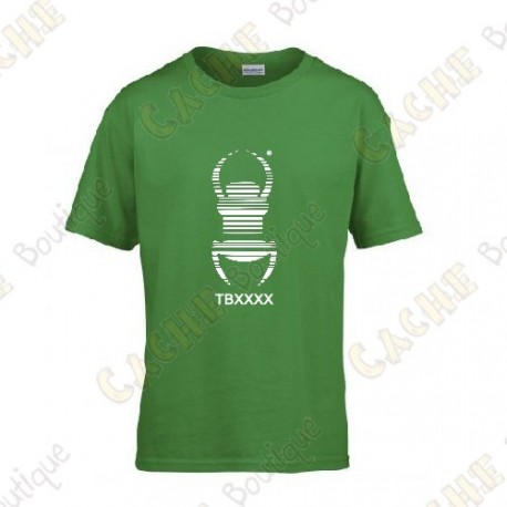 "Camiseta trackable ""Travel Bug"" Niño - Negro"