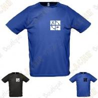 "T-shirt técnica trackable ""Discover me"" Homem"