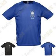 Camiseta técnica trackable con Teamname, Hombre - Negra