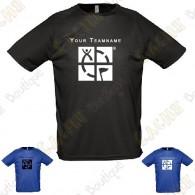 Camiseta técnica con Teamname, Hombre - Negra