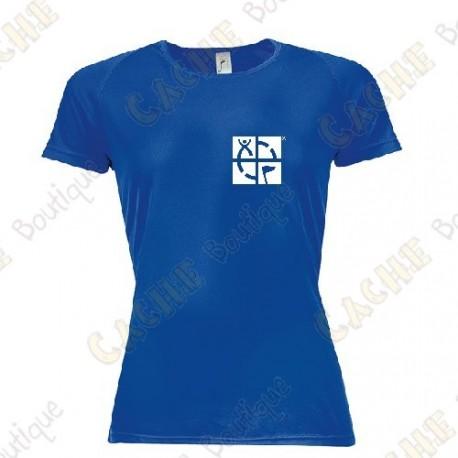 """T-Shirt technique trackable """"Discover me"""" Femme - Noir"""