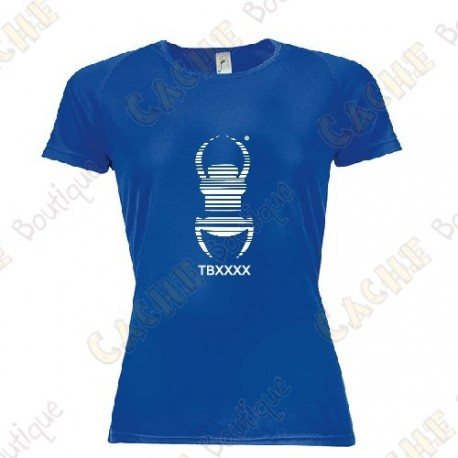 "T-shirt técnica trackable ""Travel Bug"" Mulher - Preto"