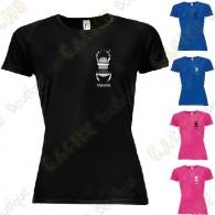 T-shirt técnica trackable com seu Apelido, Mulher