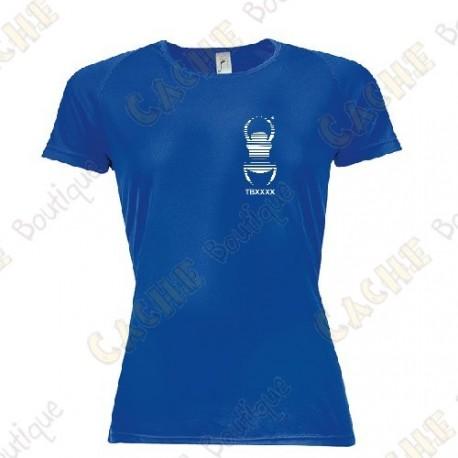 T-shirt técnica trackable com seu Apelido, Mulher - Preto
