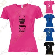 "Camiseta técnica trackable ""Travel Bug"" Mujer"