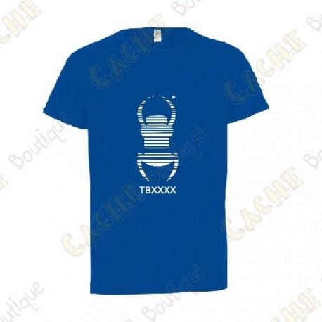 """T-Shirt technique trackable """"Travel Bug"""" Enfant - Noir"""