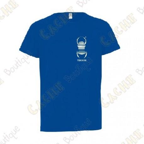 Camiseta técnica trackable con Teamname, Niño - Negra