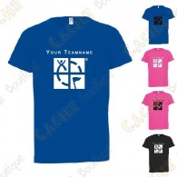 T-shirt técnica com seu Apelido, Criança - Preto