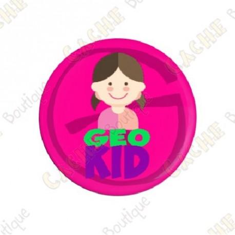 "Badge ""Geo Kid"" Fille"